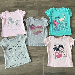Carter's & Children's Place tees (3/$10)